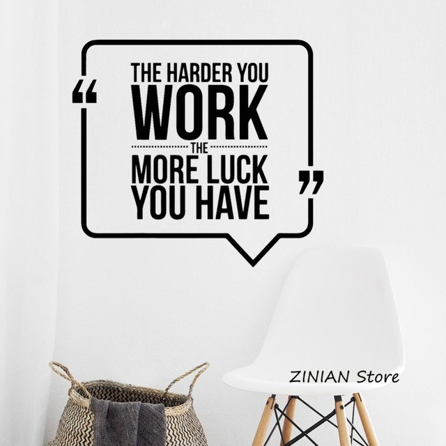 motivation quote wall decal work business office vinyl wall stickers