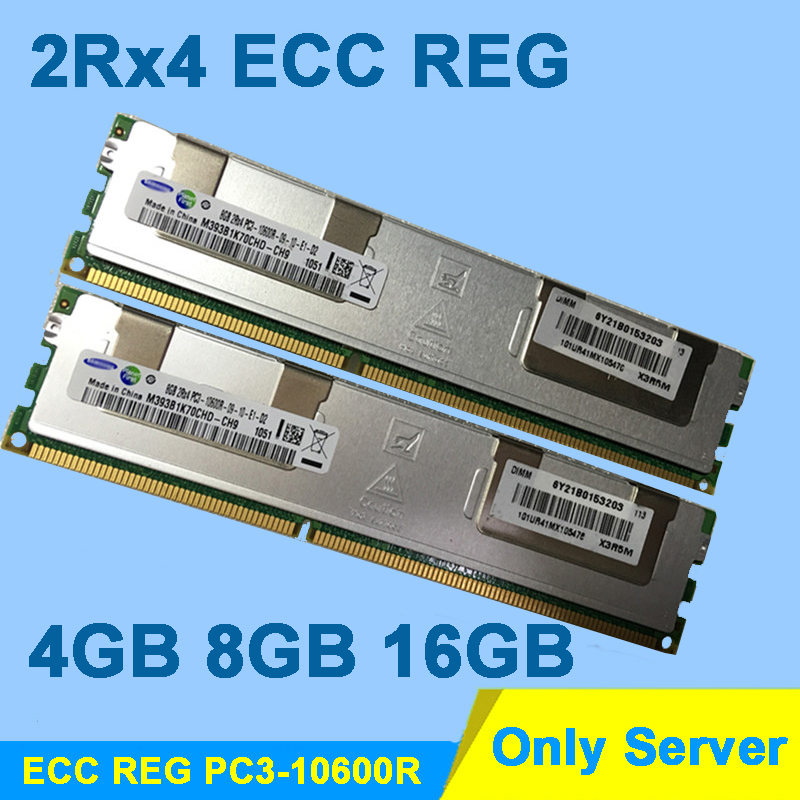 Serveur Mémoire Haute Qualité DDR3 1333 MHz DDR3 16 GB 8 GB 4 GB PC3-10600R 2Rx4 ECC REG RDIMM RAM DDR 3 1333 memoria Garantie À Vie
