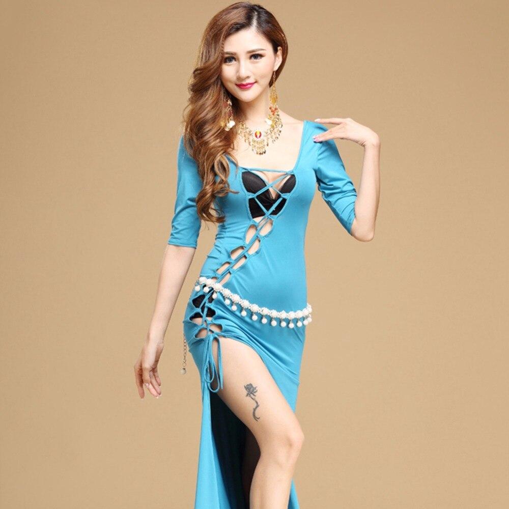 2018 New Style Women Belly Dance Dress No Waist Chain Straps Milk ...