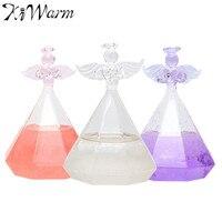 Kiwarm 1 UNID Tormenta Pronóstico del Ángulo de Cristal Botella De Cristal Adornos de Artesanía Para la Decoración Del Hogar Regalo de Navidad de Cumpleaños