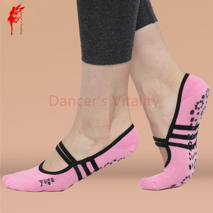 Lady Belly Dance Accessories Women Belly Dance Socks Yoga Socks Girls Dance Non-slip Socks Pink And Black