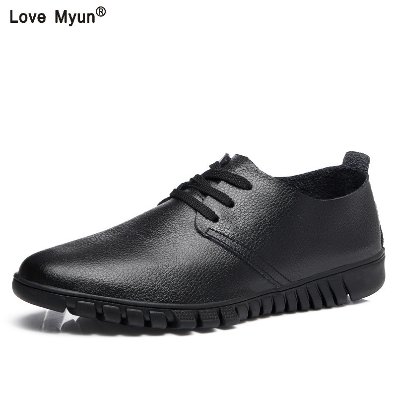 Autumn New Casual Shoes Mens Leather Flats Lace-Up Shoes Simple Stylish Male Shoes Large Sizes Oxford Shoes For Men 999 chaussure homme pas cher