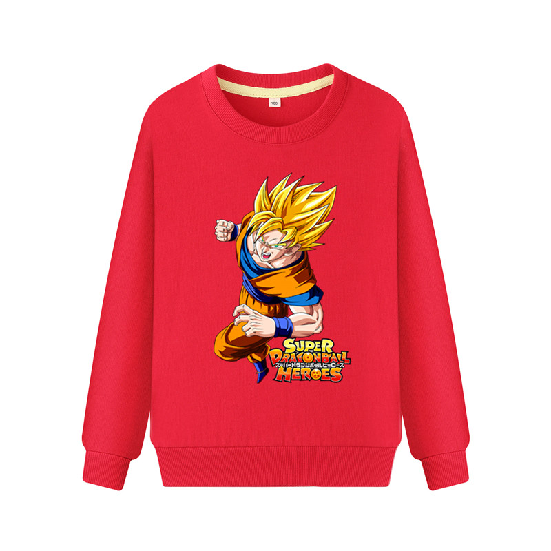 Children Long Sleeve Hoodies Cartoon Dragon Ball Game Print Hoodie Sports Sweatshirts Boy Girl Spring Autumn Pullover Coat WK140(China)