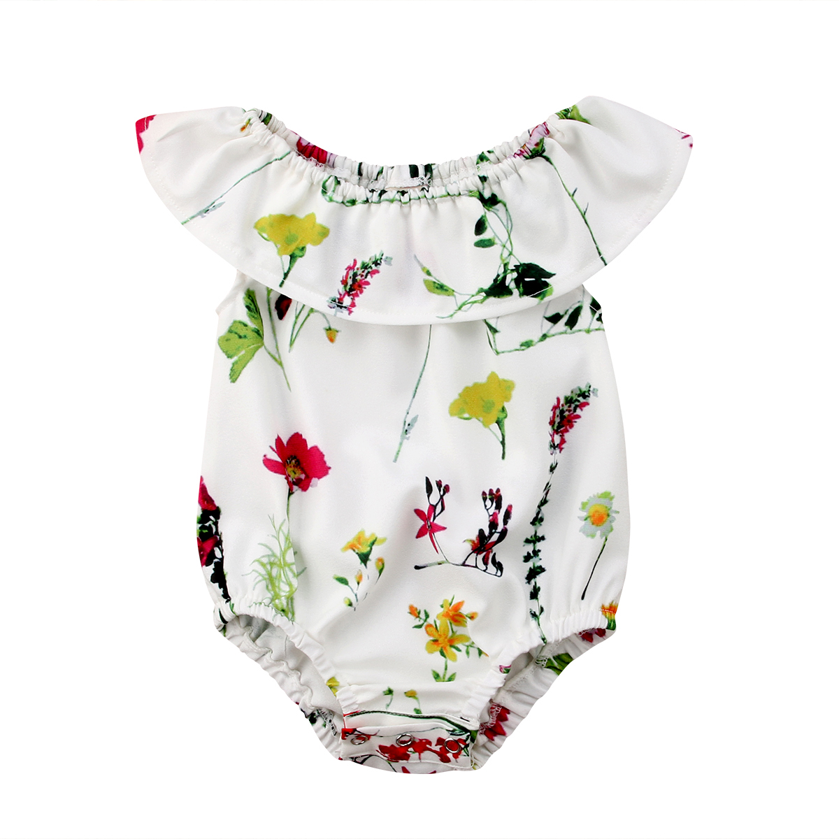 Newborn Baby Girl Flower   Romper   Jumpsuit Top T-Shirt Blouse Outfits Set
