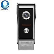 Kablolu 700TVL Görüntülü Kapı Telefonu Interkom LED Gece Görüş Kamera Kapı Zili Düğmesi Su Geçirmez Kapak ile Ev Güvenlik için