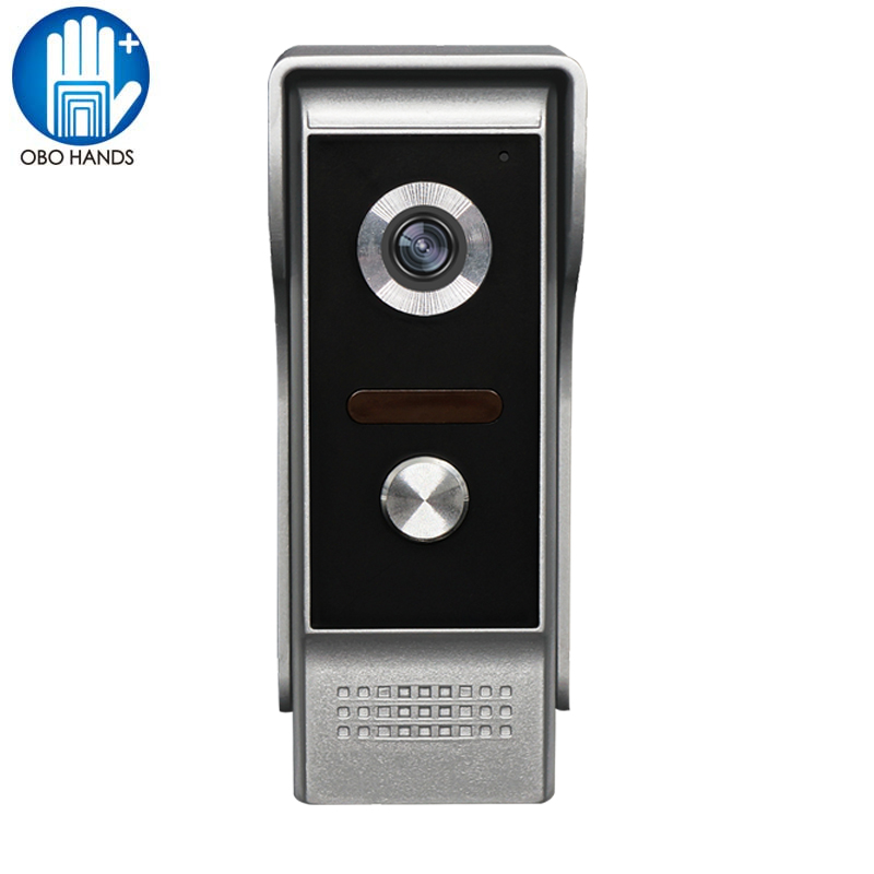 Wired 700TVL Video Door Phone Intercom <font><b>LED</b></font> Night Vision Camera Doorbell Button with Waterproof Cover for Home Security