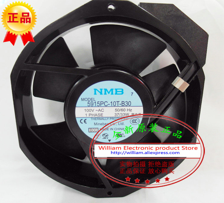 все цены на  New Original NMB 5915PC-10T-B30 AC100V 35/32W 172*38MM Inverter axial flow cooling fan  онлайн