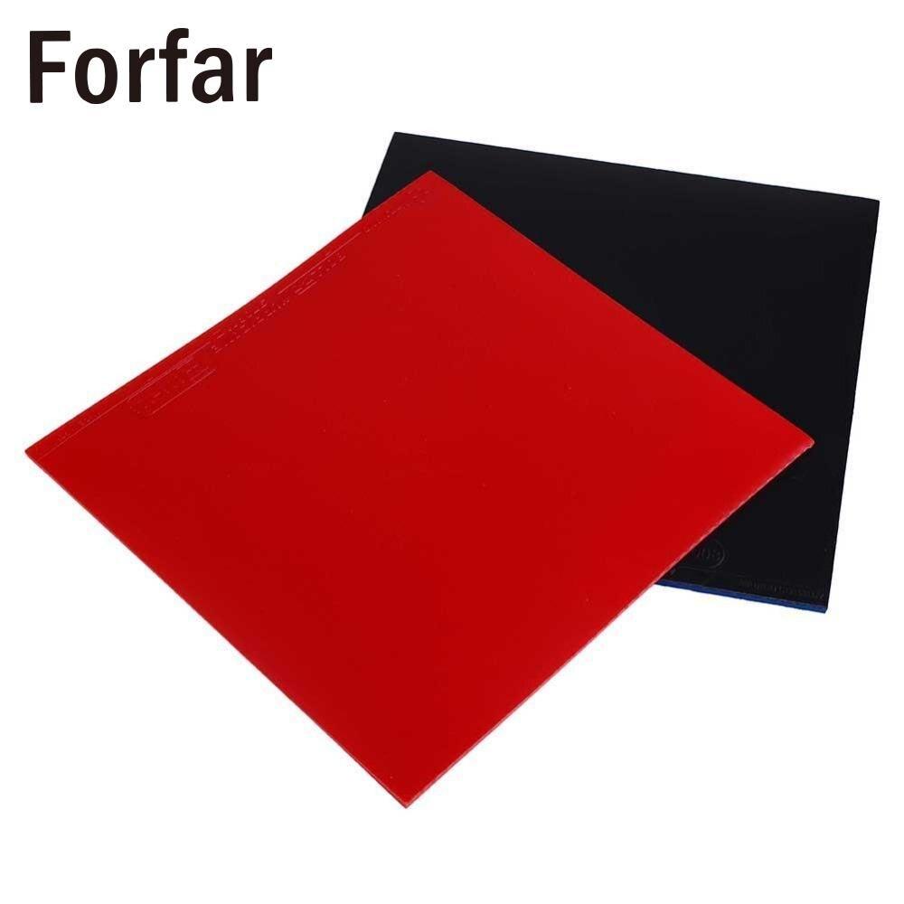 Forfar 2 pcs Nouveau Tennis De Table Raquette Boutons Dans Ping-Pong Raquette En Caoutchouc Éponge Rouge/Noir Haute Qualité 16*16.5*0.2 cm