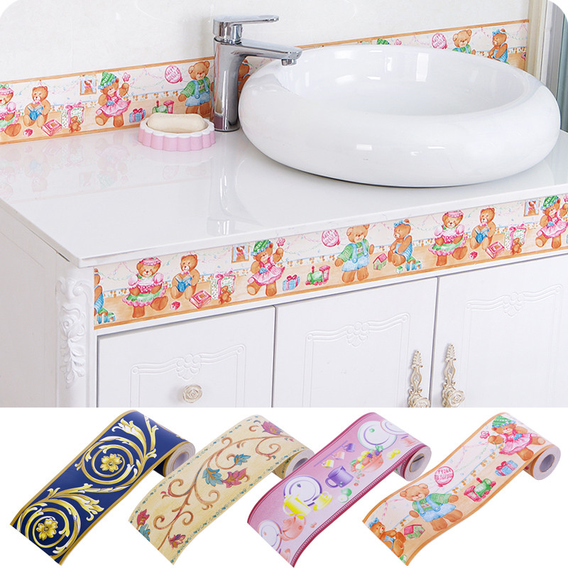 2016 New Diy Self Stick Waterproof Bathroom Mosaic Pvc Wall Sticker 10cm X 10m Kitchen Ceramic