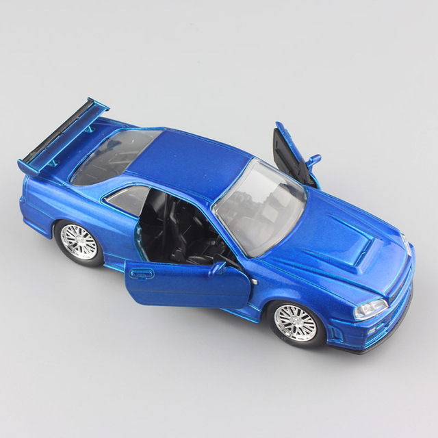 Us 14 69 37 Off Jada 1 32 Scale Fast And Furious Brian S Nissan Skyline Gt R R34 Metal Diecast Model Sport Race Cars Auto Mini Toys For Boy Blue In