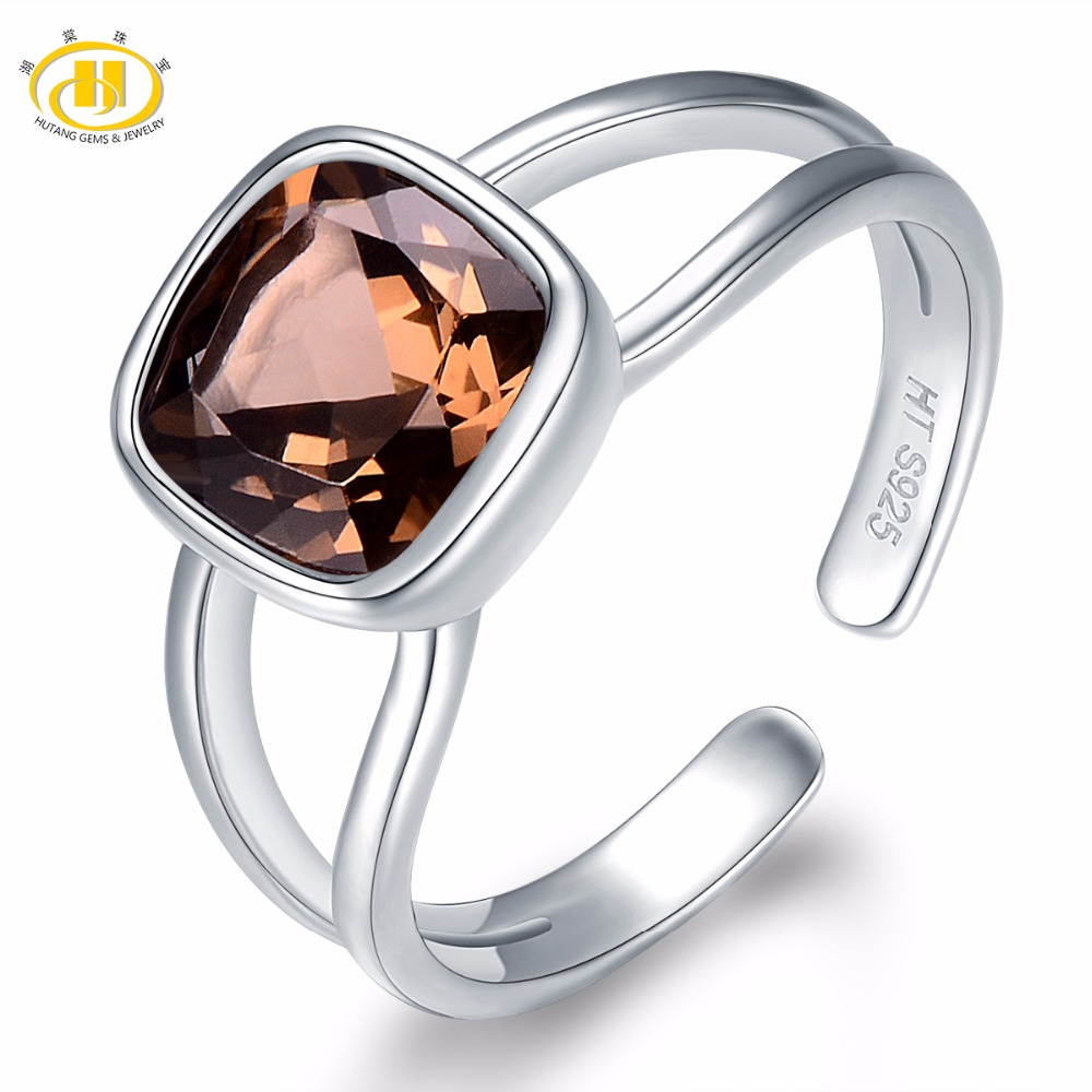 Symbol Of The Brand 925 Pure Silver Ladies Handcrafted Jewelry Natural Rose Quartz Ring Size 7.75 Rings Fashion Jewelry