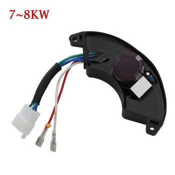 1PC nowy uniwersalny jednofazowy automatyczny Regulator napięcia AVR stabilizator prostownika 7KW-8KW Regulator generatora tanie i dobre opinie Voltage Regulator Mainly black Plastic+wires+power 04-25