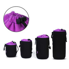 Black Cam Protective cover Photo Soft Diving material DSLR Camera Lens Pouch Protector Bag Case Bags