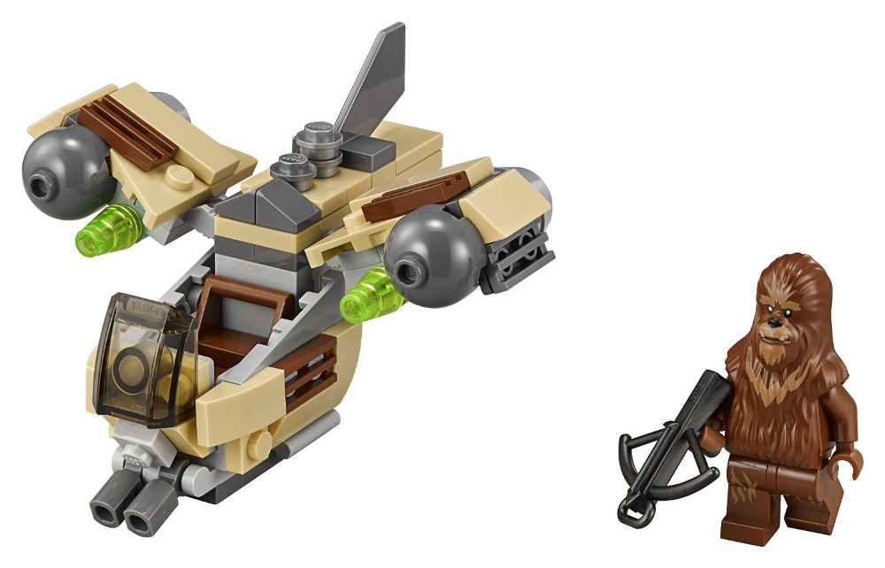 LEPIN 05015 Star Wars Wookiee Gunship Building Block Set Wookie Minifigures legoe 75129 Compatible
