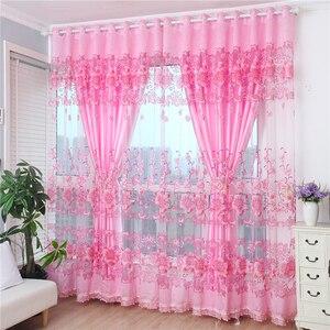 Cortinas productos terminados simple moderno cortina estilo pastoral gasa doble dormitorio sala de estar aislamiento térmico todo sombreado