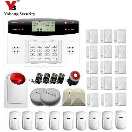 YoBang Security PIR Sensor GSM Automatic Dialing Office Burglar Alarm System English Russian French Ltalian Czech+Smoke Alarm