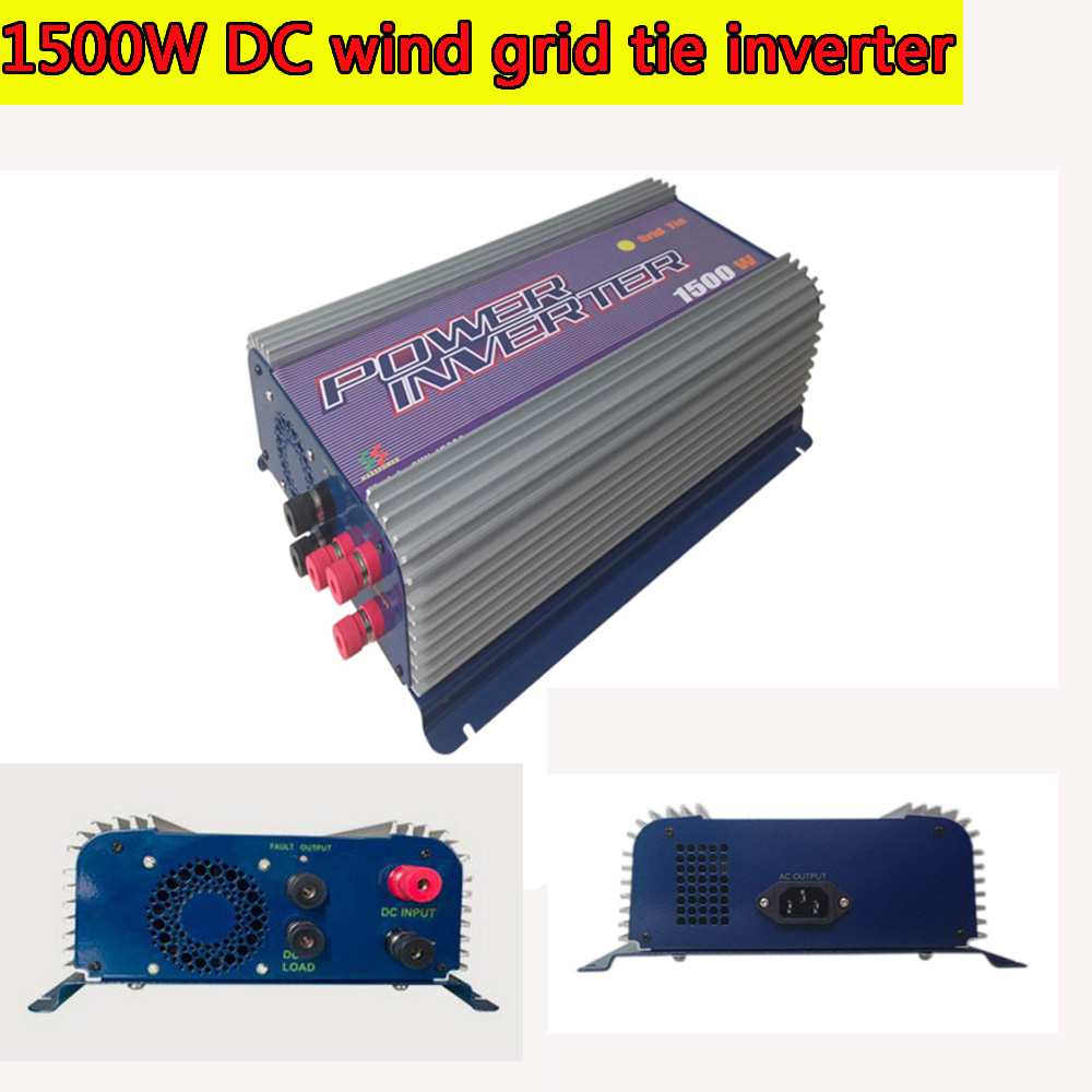 Grid Tie Inverter 1500W LED DC Wind Turbine Grid Tie Inverter 45-90V DC Input  MPPT Pure Sine Wave Inverter solar power on grid tie mini 300w inverter with mppt funciton dc 10 8 30v input to ac output no extra shipping fee