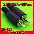 CK  Free Shipping Male DC Power Tip Inlet Laptop Jack Plug Connector ID 0.7mm OD 2.5mm 2.5 / 0.7,TL-021
