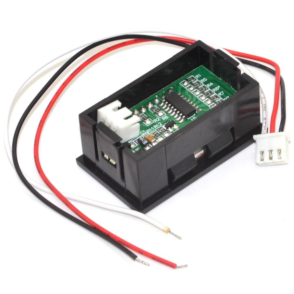 10pcs 3 wire DC0 100V/DC0 99.9V Red LED digital display Voltage ...