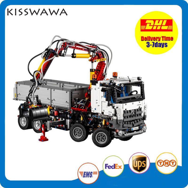 KISSWAWA Lepin 20005 2793pcs New Technic Series 42023 Arocs Model Building Block Bricks Boys Toy Gift 05007