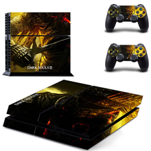 PS4 Skin Sticker Set:Dark Souls III(include 1pcs Console&2pcs Controller) Vinyl Decal Skins For Sony Playstation 4 Cover