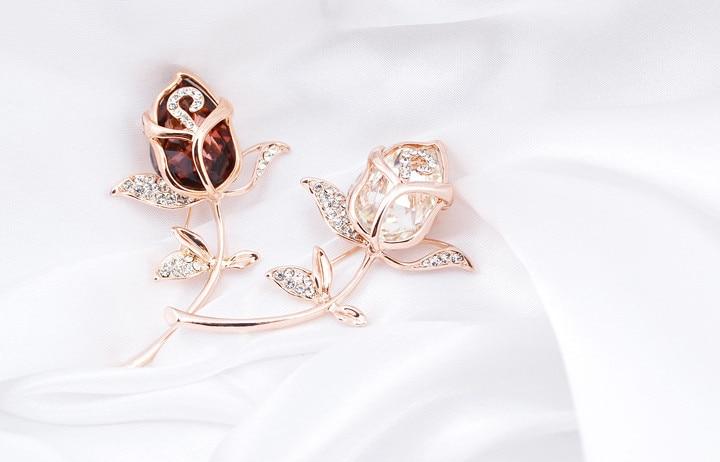 Broške CINDY XIANG Crystal Rose za ženske Elegantne broške in - Modni nakit - Fotografija 4