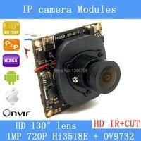 HI3518E + OV9732 720 마력 1MP 광각 38 미리메터 X 38 미리메터 사이즈 IP 카메라 메인 보드 모듈 DIY IP 카메라 또는 수리 교체.