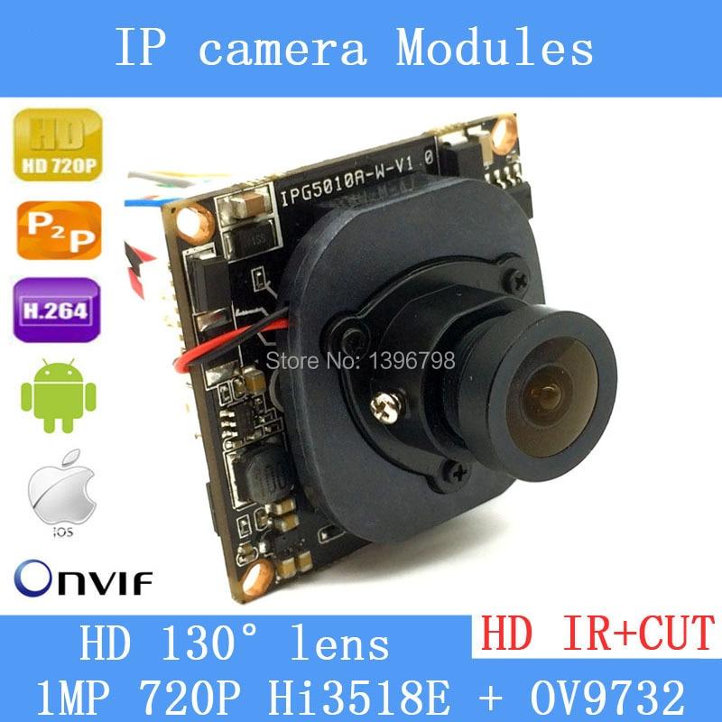 HI3518E + OV9732 720P 1MP wide-angle 38mm X 38mm size IP Camera Main board module DIY IP camera or for repair replacement.