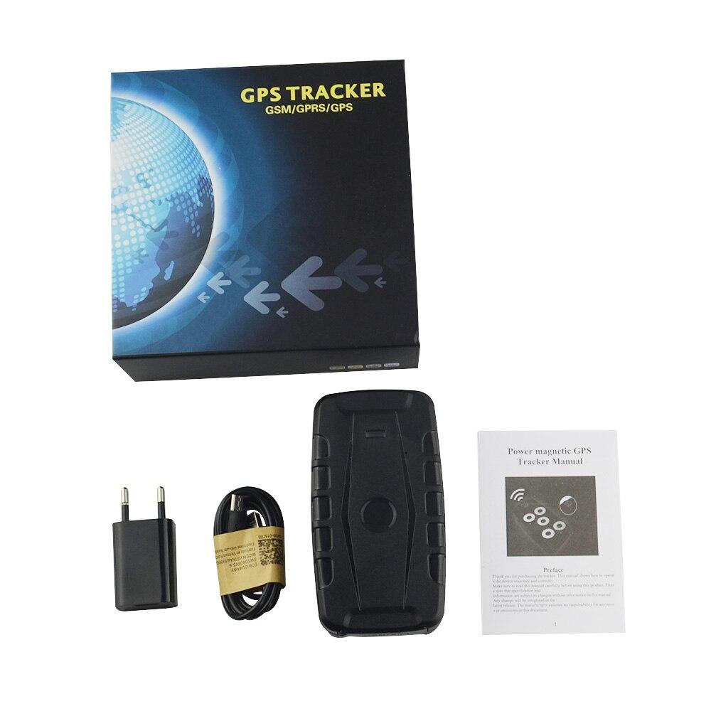 Traqueur de GPS LK209C magnétique pour la voiture, surveillance à distance de batterie de 20000 mAh