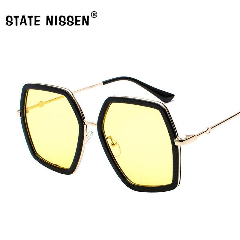 177dfb67b1 STATE NISSEN New Sunglasses Women Frame Polygon Sunglasses Women Men Brand  Designer Clear Lens Sun Glasses