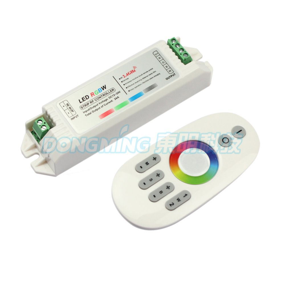 2.4G RGBW Touch pannel rgb LED controller 12V/24V 24A Wireless Finger touch ring Remote 432Watt for mini led controller,5set/lot