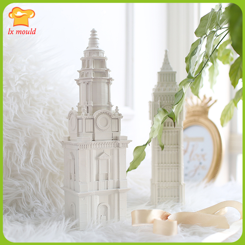 2018 Европейская Архитектура украшения дома форма Биг Бен свеча силиконовая форма св. Павла собора штукатурка ремесло силиконовая форма