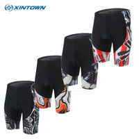 XINTOWN Mens bike shorts Ropa Ciclismo team Cycling bicycle Shorts padded mountain short sleeve/ mtb team Outdoor Sportswear