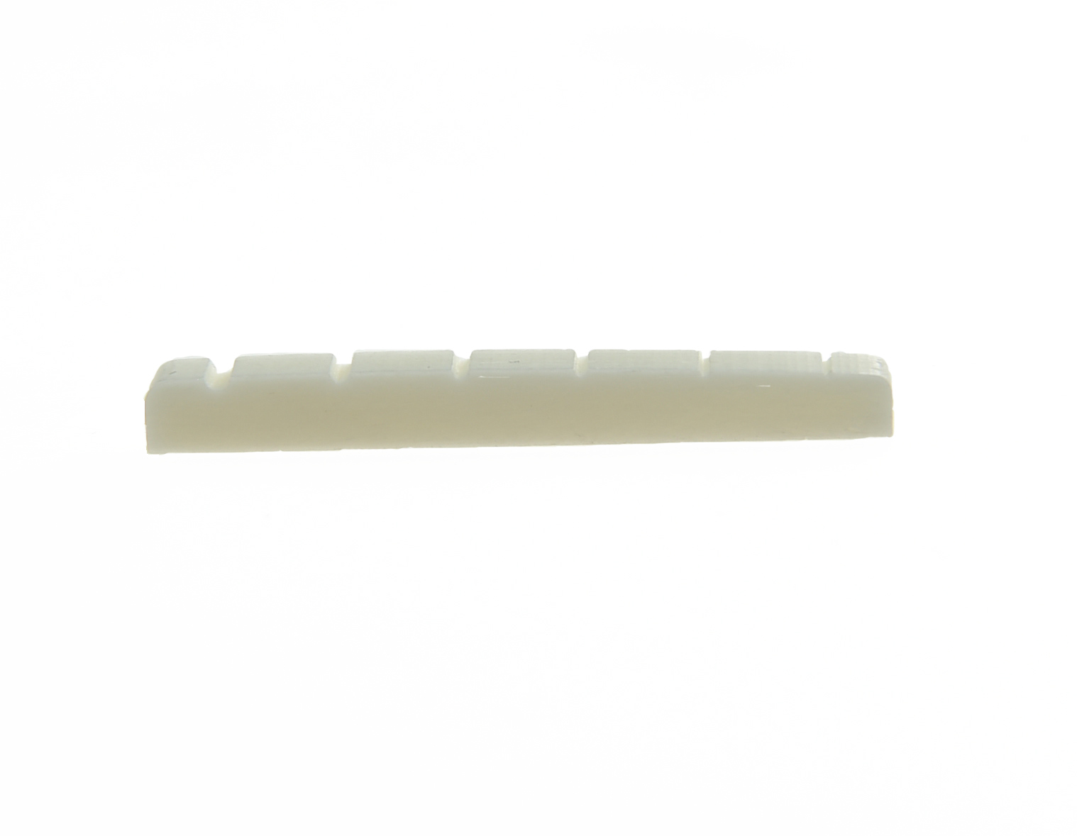 KAISH 42mm Pure Bone Nut Electric Guitar Slotted Bone Nut for ST  42x3.5mm