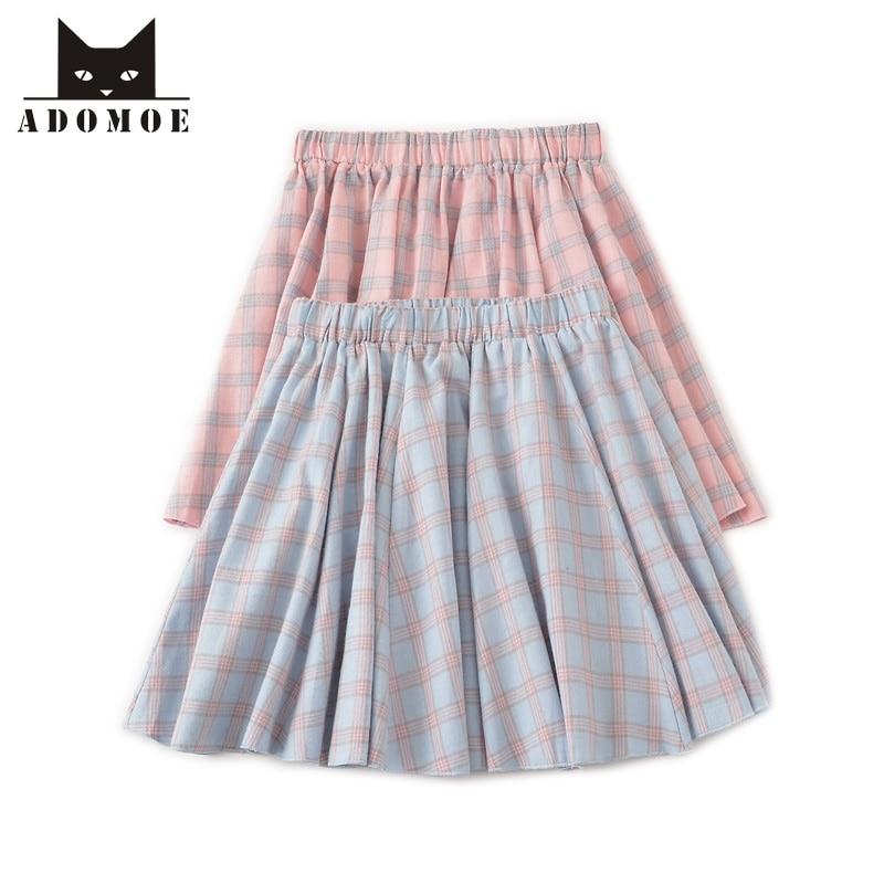 Mori lány pamut kockás nyakú mini szoknya Preppy stílus lányok aranyos japán stílusos nyári nők divat londoni teljesítmény rózsaszín szoknya