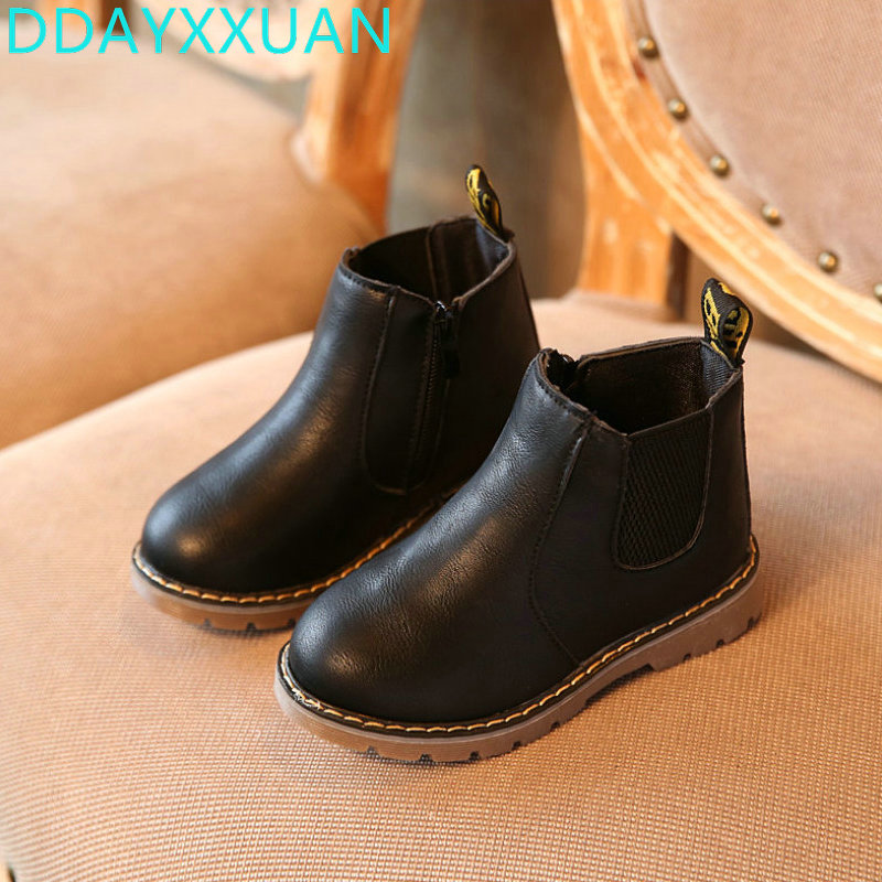 Kids Shoes 2018 New Toddler Autumn Winter Boys Girls Winter Boots Classic Children Casual Shoes British Style Martin Boots