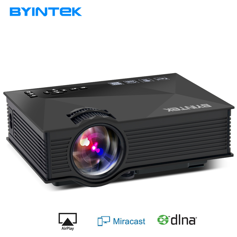 BYINTEK BT460 WIFI Home Theater Mobile HDMI USB LCD Pico Video Portable Mini Game LED Projector Proyector For Iphone Android p1 led projector mini home theater portable dlp pocket pico projector with wifi hdmi usb as mobile cinema projector proyector