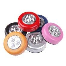 Luz de pared LED de 3 LEDs para armario de cocina, luz para armario, pegatina para lámpara táctil, luz para armario de cocina pequeño W5