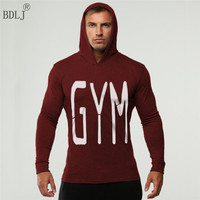 BDLJ Punisher Print Hoodie Golds Gyms Clothing Mens Sweatshirts Hoodies Bodybuilding Streetwear Fitness Mens