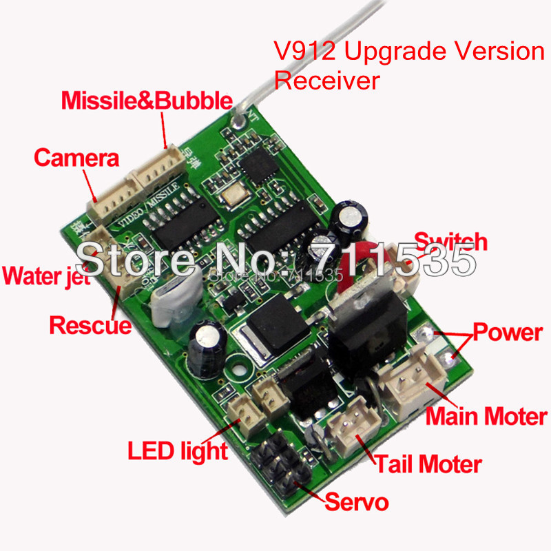 rc helicopter circuit diagram nissan xterra trailer wiring online shop v912 16 new upgrade version receiver board mainboard with camera function spare parts for 4ch aliexpress