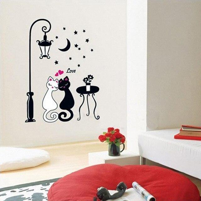 Marke 2017 DIY Entfernbarer Aufkleber Kinder Für Kinder Zimmer Dekor  Dekoration Dekore Nette Katzen Decals Adesivo
