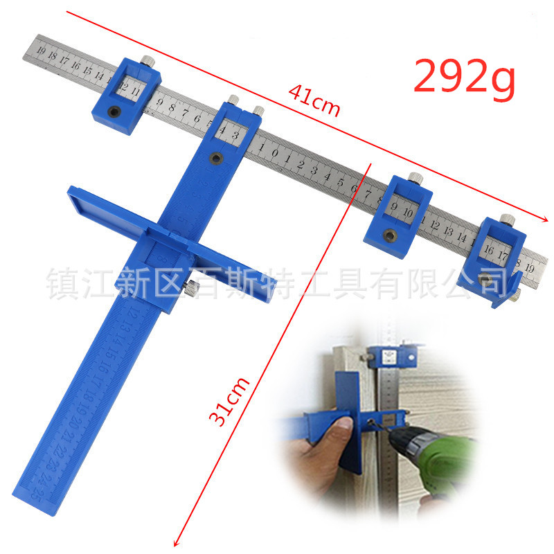Multi-function Drill Punch Locator Furniture Adjustable Drilling Dowelling Hole Saw Locator Woodworking Joinery Hand ToolMulti-function Drill Punch Locator Furniture Adjustable Drilling Dowelling Hole Saw Locator Woodworking Joinery Hand Tool