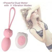 2019New Woman Double Vibration Sexy Stimulate Masturbation Vibrating Egg Adult Toys