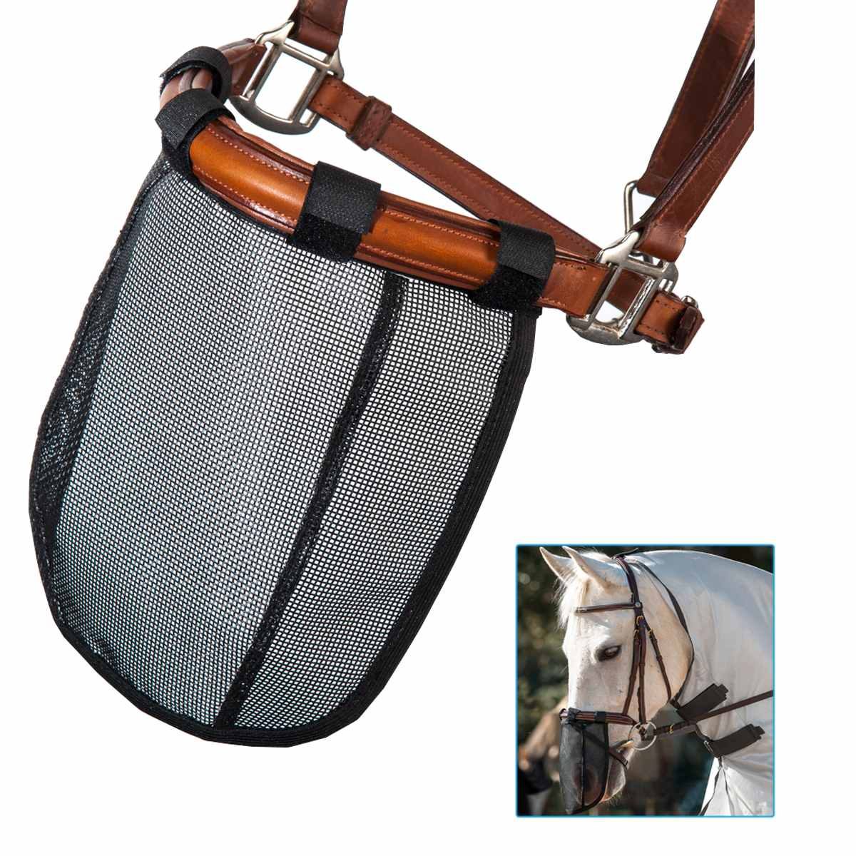 Mesh Horse Nose Mask Breathable Detachable Fly Mask Mosquito Proof Horse Face Mask Cover Equestrian Supply Equipment
