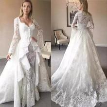 kejiadian Long Sleeves Ball Gown Wedding Dresses