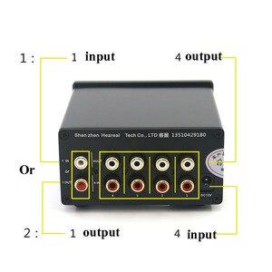 Image 3 - Lusya 4 Ingang 1 Output/1 Ingang 4 Output Twee weg Audio Signaal Switcher Schakelaar Splitter Selector Met rca AC100V 240V L1 002