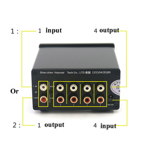 Image 3 - Lusya 4 Input 1 Output/ 1 Input 4 Output Two way Audio Signal Switcher Switch Splitter Selector with RCA AC100V 240V  l1 002