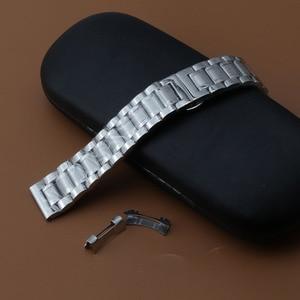 Image 5 - Watchband 19mm 20mm 21mm 22mm zegarek bransoletki wysokiej jakości zegarek ze stali nierdzewnej akcesoria darmowe zakrzywione końcówki dla mężczyzn kobiet nowy