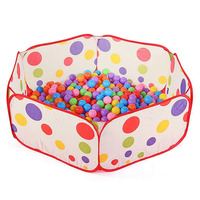 Portable Kids Pool Children Outdoor Indoor Game Polka Dot Baby Toy Ocean Ball Pit Without Balls