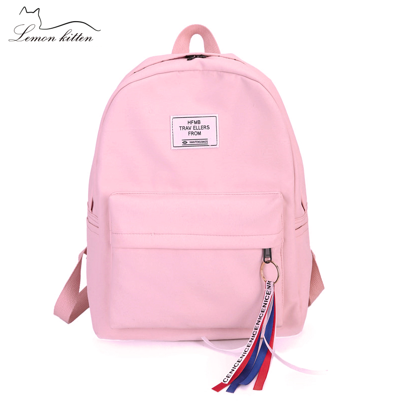 2018 New Backpack Tassel Letter Japan Ring Best Travel Backpack Female Ribbon Girl Women Backpack Mochilas Bagpack Shoulder Bag